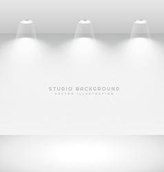 clean studio background vector image vector image