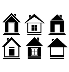 collection house icons vector image vector image