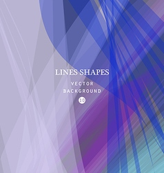 Colorful abstract background blue purple waves vector image