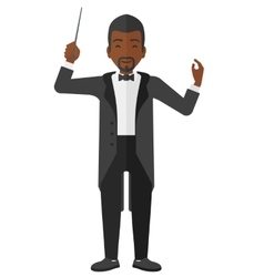 Conductor directing with his baton vector image
