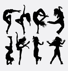 Cool dancing silhouette vector