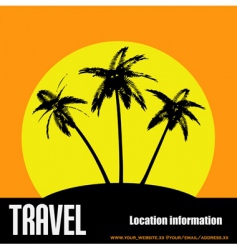 desert island background vector image vector image