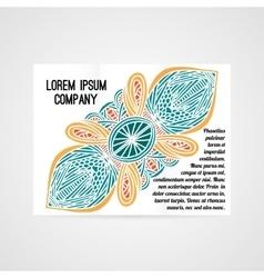 Design of brochure company vector