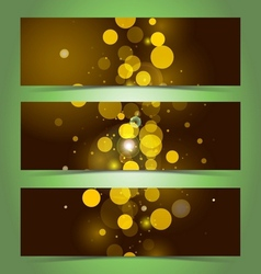 Elegant banner design template vector image
