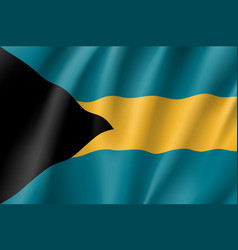 flag bahamas realistic icon vector image