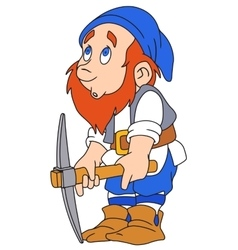Gnome with pickaxe vector