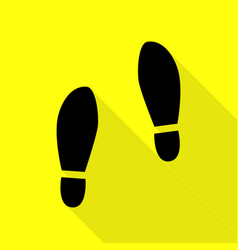 Imprint soles shoes sign black icon with flat vector