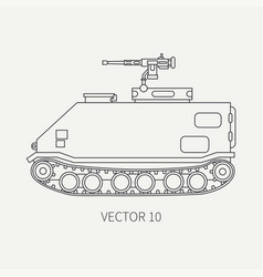 line flat plain icon infantry assault vector image vector image