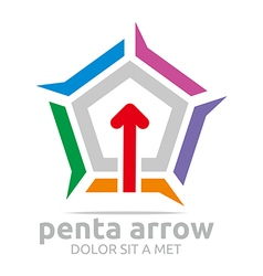 Penta arrow icon abstract vector