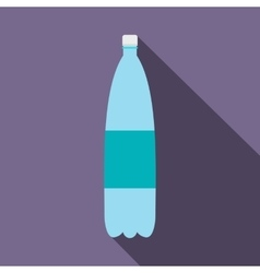 Plastic bottle of water flat icon vector image vector image
