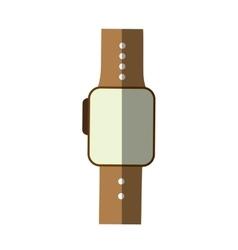Smart watch wearable technology modern shadow vector
