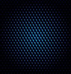 Techno hexagon circle texture background vector