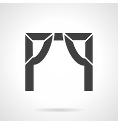 Tented arch glyph style icon vector
