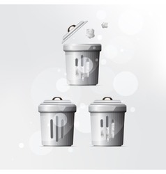 trash can on grey background vector image