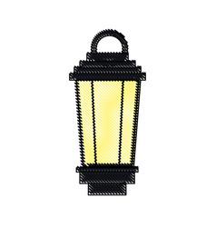 vintage lamp street decoration outline vector image vector image
