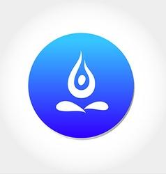 yoga asan icon vector image vector image