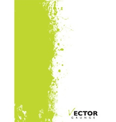 Green splat grunge vector