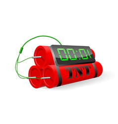 Explosives with digital alarm clock vector
