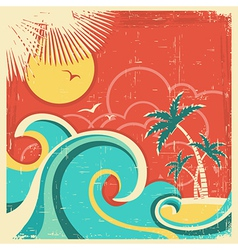 Vintage tropical poster vector