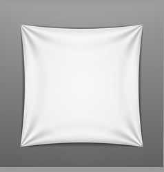 White stretched square shape with folds vector image