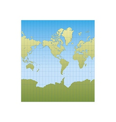 New mercator americas vector