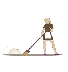 Cleaner girl vector
