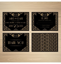 Gatsby save the date vector