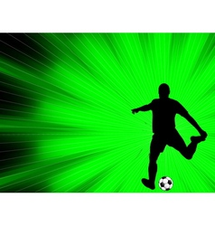 Soccer player - abstract background vector