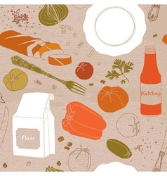Seamless pattern brunch vector image