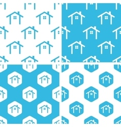 Cottage patterns set vector