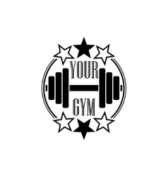Gym symbol black vector