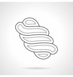 Twisted marshmallow thin line design icon vector