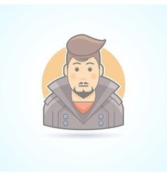 Stylish man with haircut icon vector