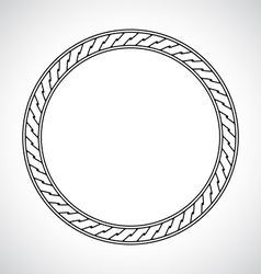 Ornamental circular simple classical frame vector