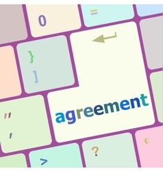 Concept of to agreement something with message on vector