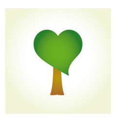 Tree with heart-shaped foliage vector