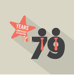 79th years anniversary typography design vector