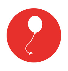 Balloon air party icon vector