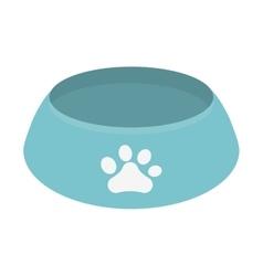 blue bowl food dog paw print vector image vector image