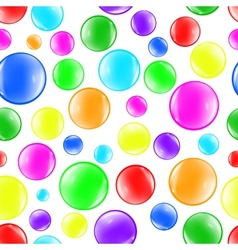 Bubbles color background vector