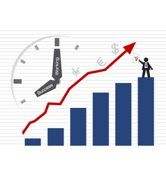 Businessman and Graph vector image vector image