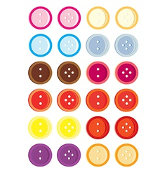 Button variation set vector image vector image