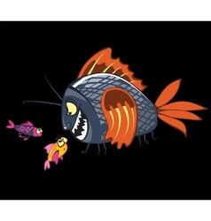 Cartoon fishes characters vector