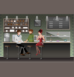 coffee shop urban society concept vector image