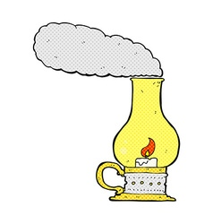 comic cartoon lantern vector image vector image