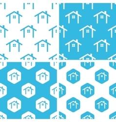 Cottage patterns set vector