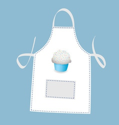 cupcake apron vector image