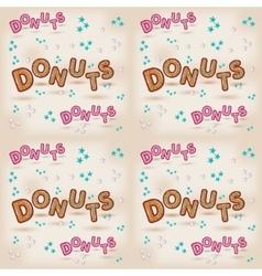 Donuts logo design 3d letters vector