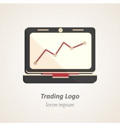 Finance flat logo vector image
