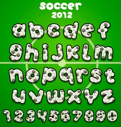 Football font vector image